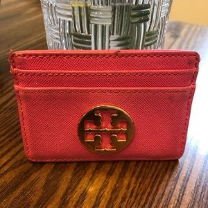 Tory Burch cardholder small wallet pink used